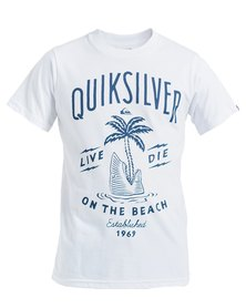 Quiksilver Boys Shark Island T-Shirt White