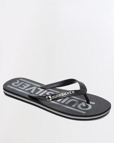Quiksilver Molokai Wordmark Flip Flops Grey