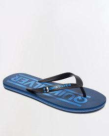 Quiksilver Molokai Wordmark Flip Flops Blue