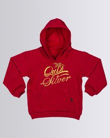 Quiksilver Tods Pro Division Hoodie Sweatshirt Red