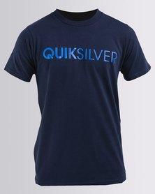 Quiksilver Boys Front Line T-Shirt Navy