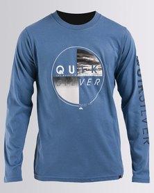 Quiksilver Boys Blazing Long Sleeve T-Shirt Blue