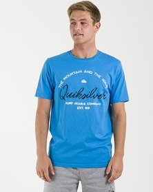 Quiksilver Hero Bay Short Sleeve T-Shirt Blue