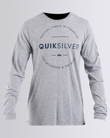 Quiksilver Youth Day Long Sleeve T-Shirt Grey