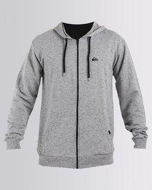 Quiksilver Sunburn Zip Thru Hoodie Sweatshirt Grey