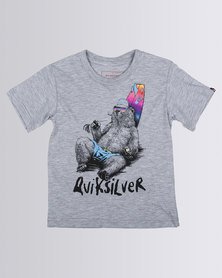 Quiksilver Tods Mostly Local T-Shirt Grey