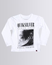 Quiksilver Tods Both Sides T-Shirt White