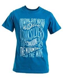 Quiksilver Boys Bladerunner T-Shirt Blue