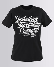 Quiksilver Boys The Bigger They Are T-Shirt Black