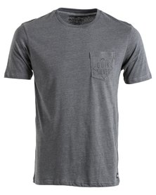 Quiksilver Rocks On Short Sleeve T-Shirt Grey