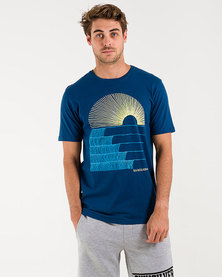 Quiksilver Morning Glide T-Shirt Blue