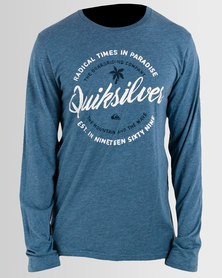 Quiksilver Holding Dreams Long Sleeve T-Shirt Blue
