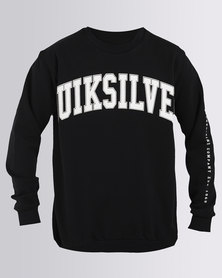 Quiksilver Boys Casa Nova Pullover Sweatshirt Black