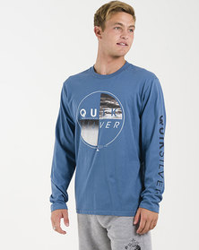 Quiksilver Blazing Long Sleeve T-Shirt Blue