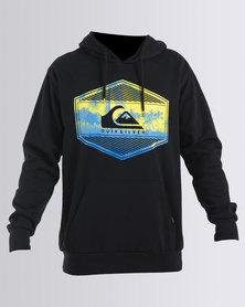 Quiksilver Shock Move Overhead Hoodie Sweatshirt Black