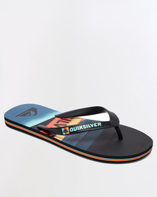 Quiksilver Molokai Slash Logo Flip Flops Orange