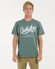 Quikslver Fools Gold T-Shirt Silver Pine