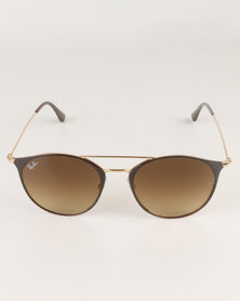 Ray-Ban Top Brown Grandient Lens Gold-tone