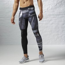 Reebok ONE Series Shattered Stripe Compression Tight