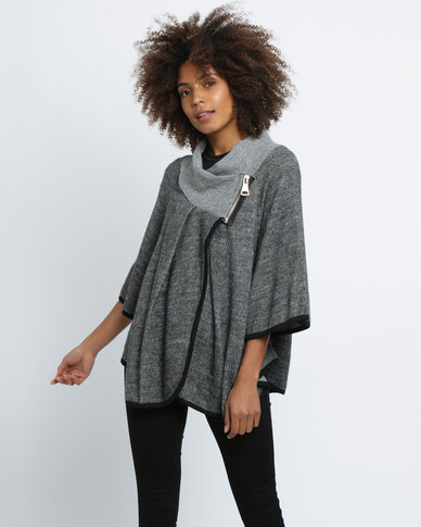 Revenge 3/4 Sleeve Wrap Over Top Grey