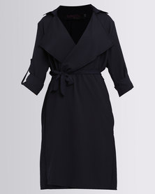 Revenge Lightweight Trench Coat Navy