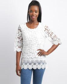 Revenge Crochet Top White