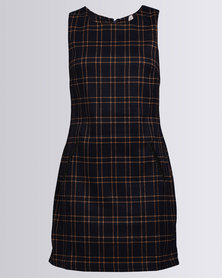 Revenge Checked Print Sleeveless Dress Multi