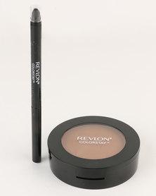 Revlon ColorStay Pressed Powder & FREE Eyeliner Mahogany