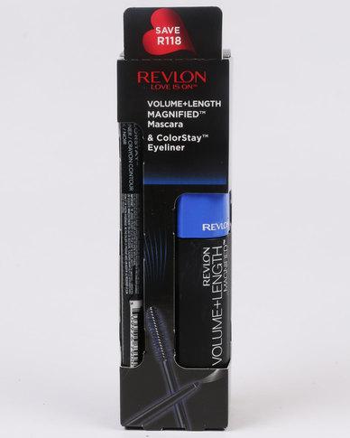 Revlon Magnified Volume & Length Mascara NWP & ColorStay Eyeliner Blackened Brown