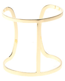Rings & Things Cut Out Cuff Gold-Tone