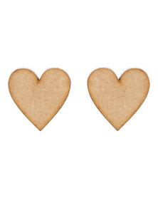 Rings & Things Wooden Heart Earrings Brown