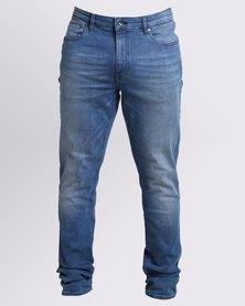 Ringspun Lunar Slim Fit Jeans Blue