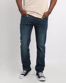 Ringspun Godzi Dark Wash Slim Jeans Blue