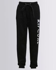 Rip Curl Plain Trackpants Black