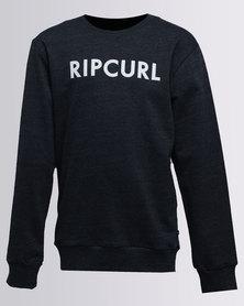 Rip Curl Plain L/S Crewneck Sweater Blue