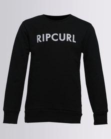 Rip Curl Plain L/S Crewneck Sweater Black