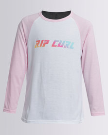 Rip Curl Two Tone Long Sleeve Tee Pink