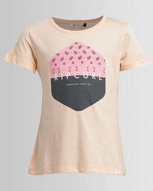 Rip Curl Teen Hex Tee Coral Pink