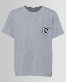 Rip Curl Boys Badges Tee Grey