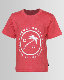 Rip Curl Groms Palm Shapes Tee Red
