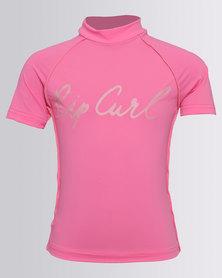 Rip Curl Girls Teen Surf Rashie Pink