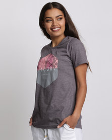 Rip Curl Hex Tee Nine Iron Grey