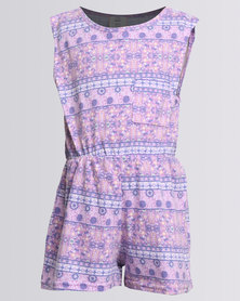 Rip Curl Mini Miss Gypsy Playsuit Purple