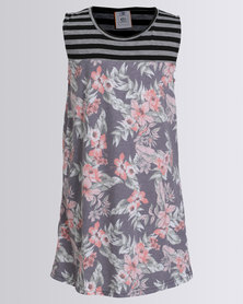 Rip Curl Teen Floral Daze Dress Dark Teal