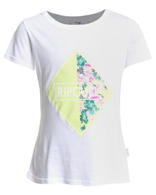 Rip Curl Floral Wishes Tee White
