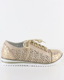 Rock n Co Oscar Lace Up Gold