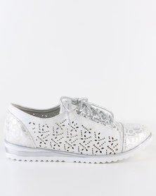Rock n Co Oscar Lace Up Silver