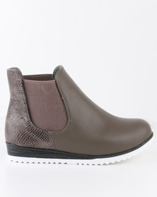 Rock n Co Tasha Ankle Boot Taupe