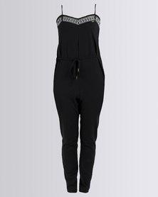 Roxy Celestial Sun Solid Jumpsuit Black