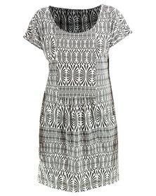 Roxy Surfin Seafari Dress Black/White